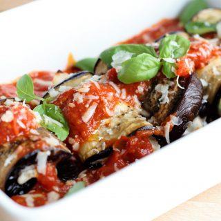 Involtini di Melanzane (aubergine-ricotta rolletjes)