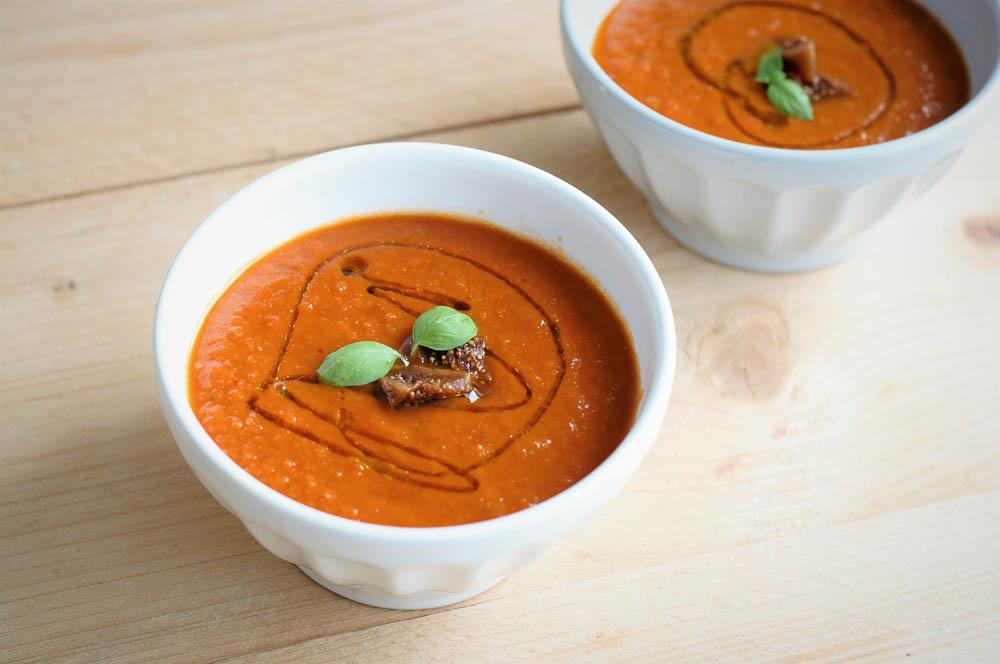 Tomaat-vijgen soep
