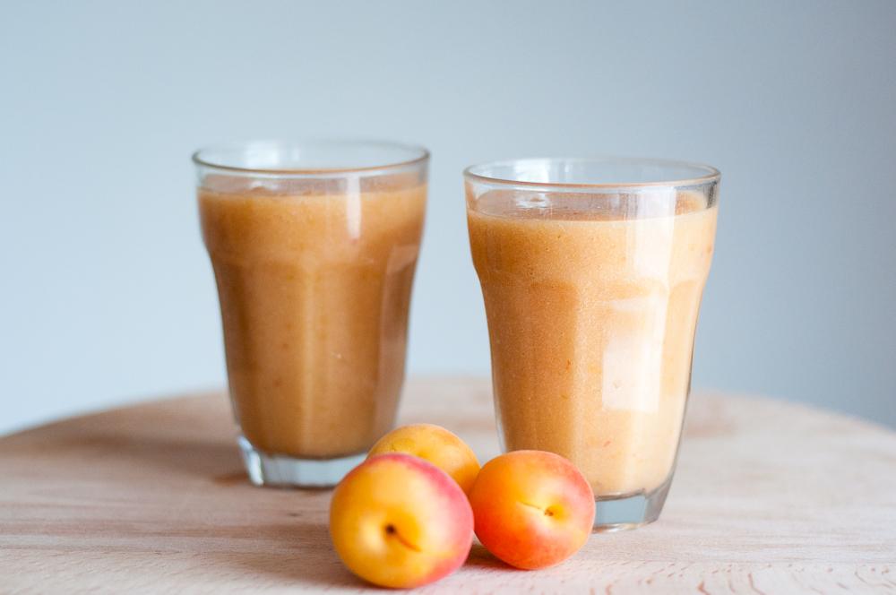 smoothie met perzik en abrikoos