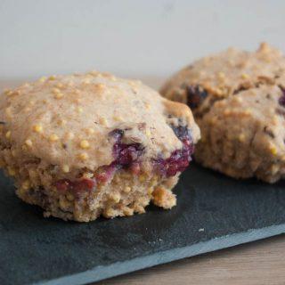 Gierstmuffins met cranberries