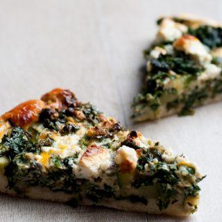 Hartige boerenkool spinazie taart