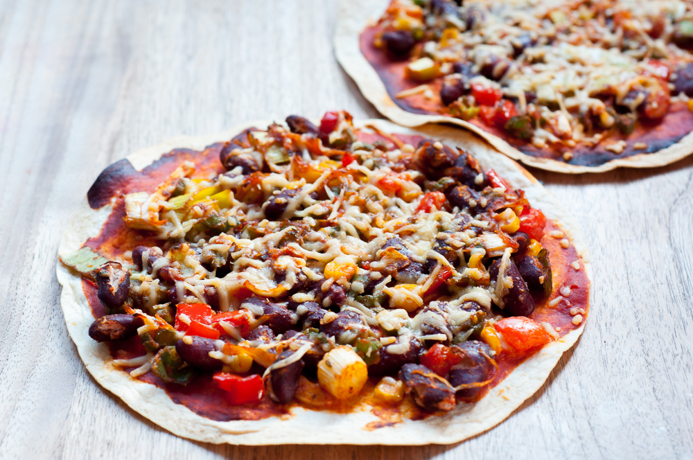 Mexicaanse tortilla pizza