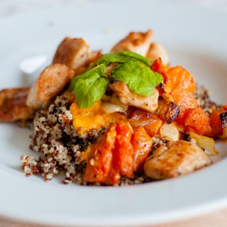 quinoa met pompoenmousse