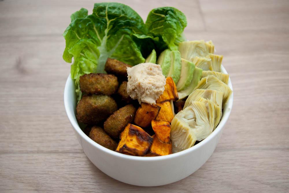 Snackbowl met falafel