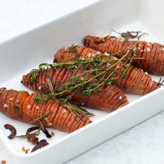 Hässelback zoete aardappels