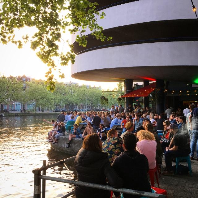 terrassen in Amsterdam