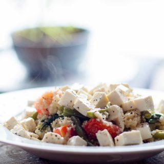 Couscous met spinazie, feta & sperzieboontjes