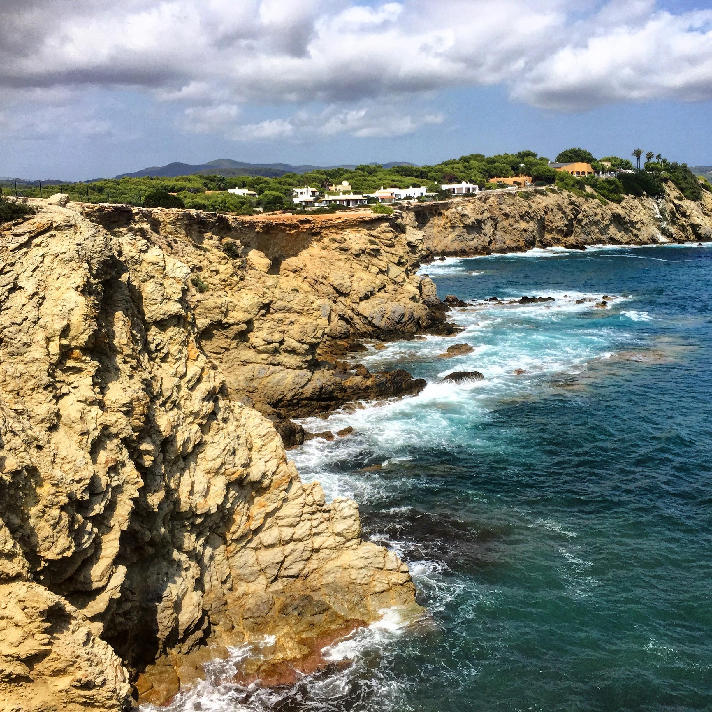 stranden in de buurt van Santa Eularia